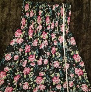 Black strapless reversible dress